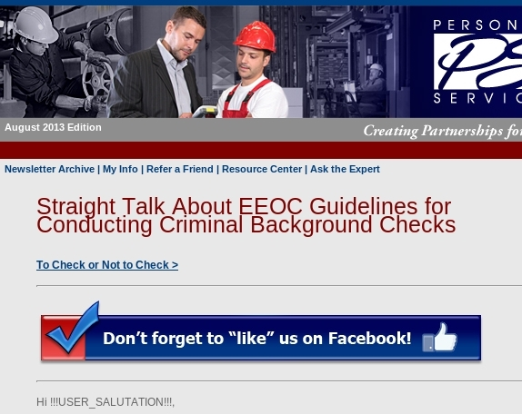 2013 EEOC Criminal Background Check Guidelines -- Are you in compliance?