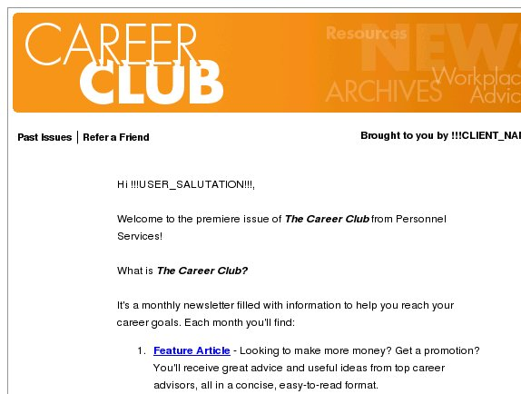Career Club: Quick Resume Tips